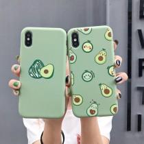 簡約夏日綠底酪梨Iphone手機殼