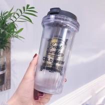 韓國潮牌梨花杯 可拆卸雙層創意隔熱水杯400ml