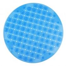 圓形浴室按摩防滑墊 55cm(透明藍)