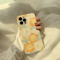小羊皮紋油畫雛菊Iphone手機殼