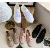 時尚低筒女用雨鞋 小白鞋