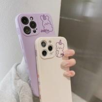 側邊圖案Hello帽子小熊兔子Iphone手機殼